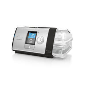 Lumis noninvasive ventilation device left view-ResMed Middle East