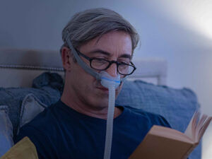 AirFit N30 discreet nasal cradle mask for OSA therapy patient-ResMed Middle East