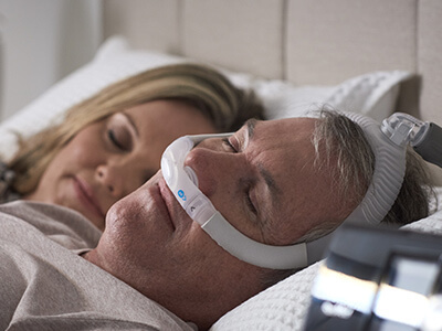 AirFit P30i tube up nasal pillows CPAP mask sleep apnoea patient-ResMed Middle East